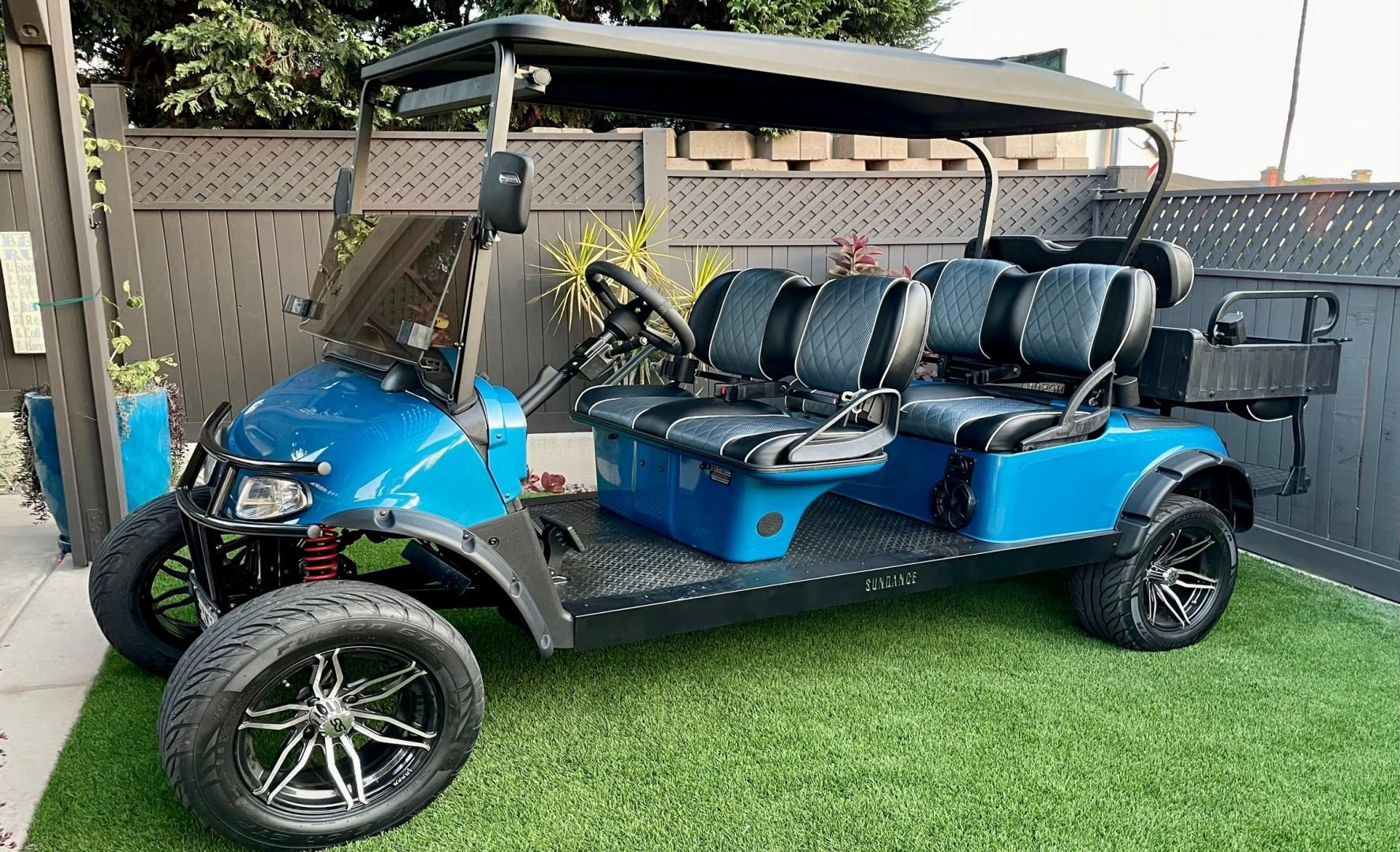 Custom golf cart available to rent
