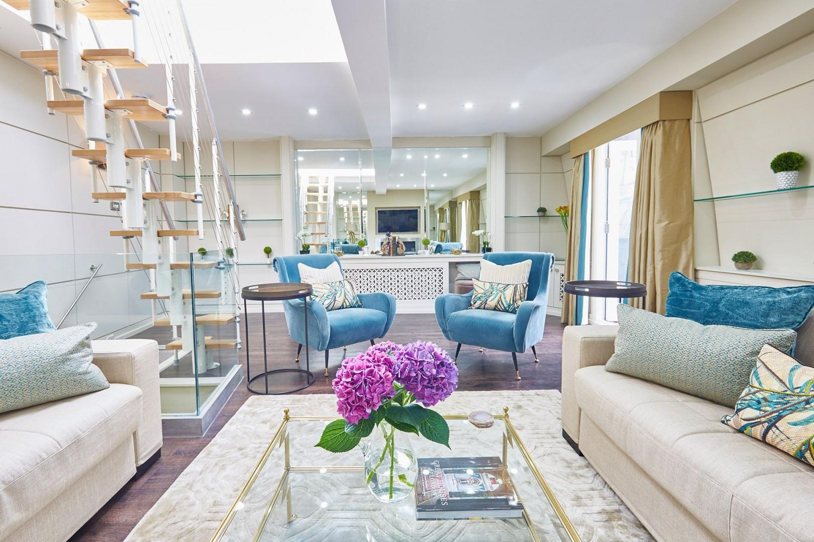 Step into the spacious living room