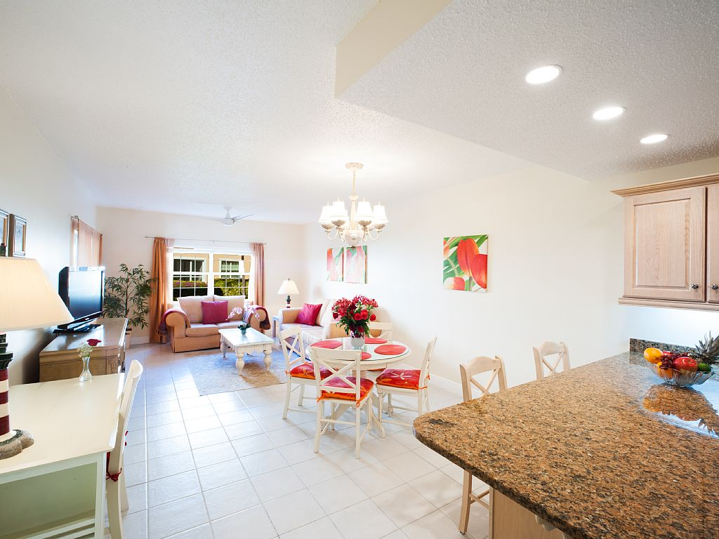Open Floor Plan, Living, Dining and Kitchen.