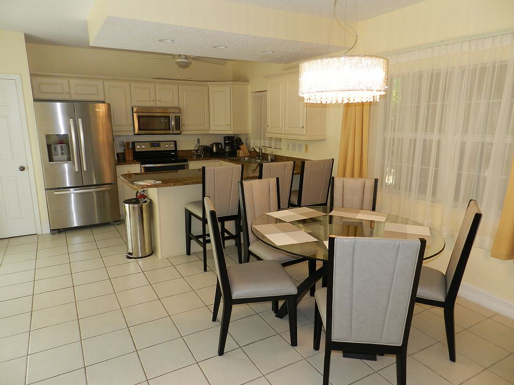 Open Kitchen and Dining Area.