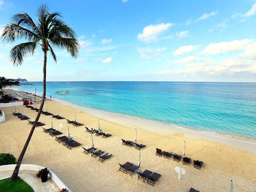 Stunning white powder sands at Regal Beach Club.