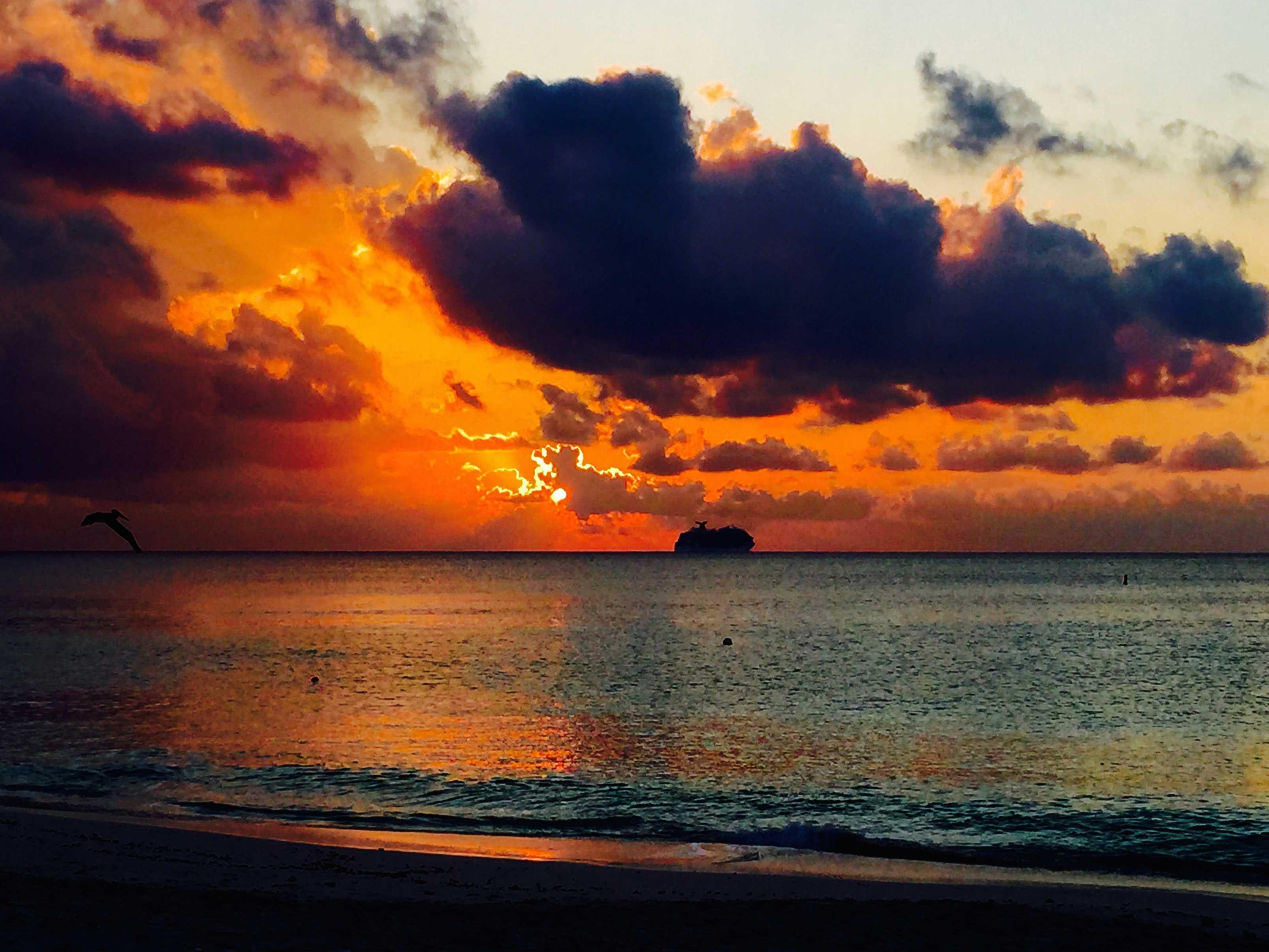Stunning sunsets.