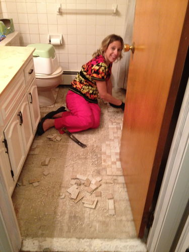 Replace bathroom subfloor by fmg for Replace bathroom subfloor