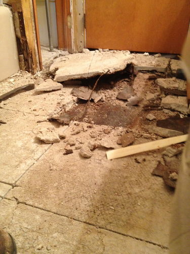 Replace Bathroom Subfloor By FMG HomeRefurberscom Home - Bathroom subfloor replacement