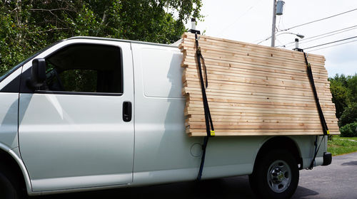 Useing Side Mounted Cargo Racks To Carry Sheet Goods And
