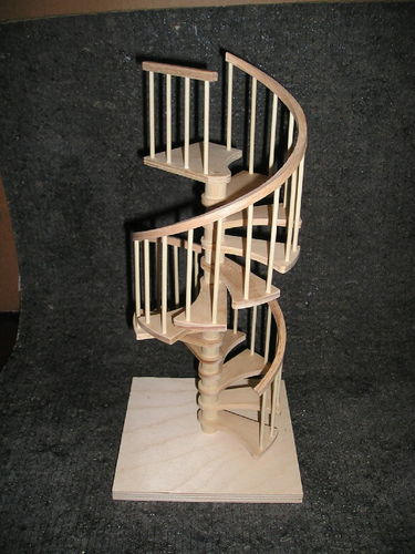 1/12 Scale Miniature Spiral Stairs, Based On The Full Size I Built. These  Are Unfinishedl.   By Donlore @ LumberJocks.com ~ Woodworking Community