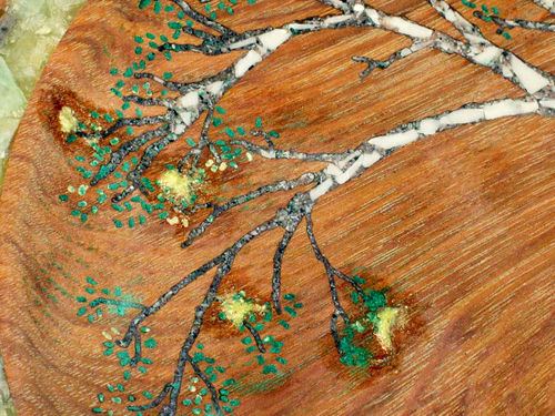 Stone Inlay A Tutorial For The Quot Birches Quot 3 Finishing