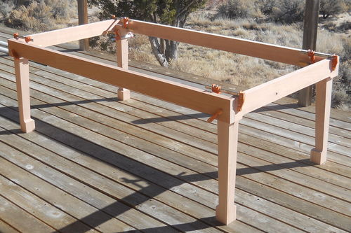 Outside Deck Table #1: New Life For An Old Bird
