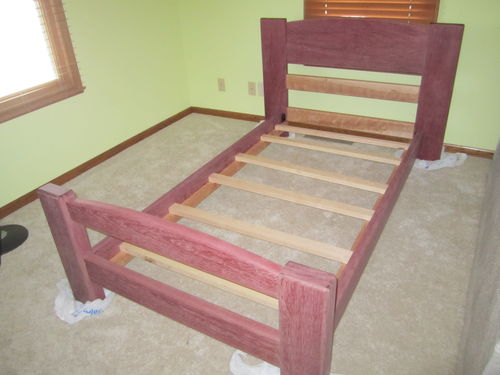 Here Are Some Of The Photos. Here Is The Bed Frame Assembled And Sanded To  180.