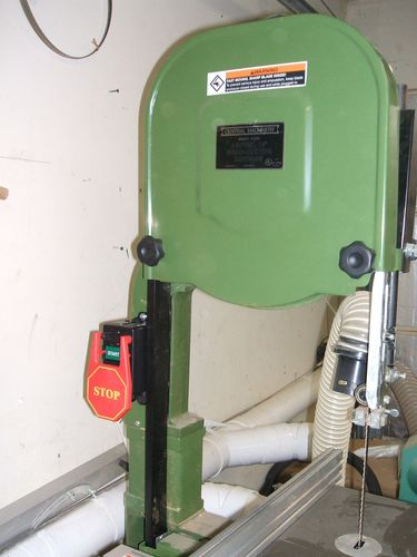 central machinery band saw. the mlcs safety power tool switch mounted up to upright post on central machinery 14\u201d 4 speed band saw\u2026 saw r