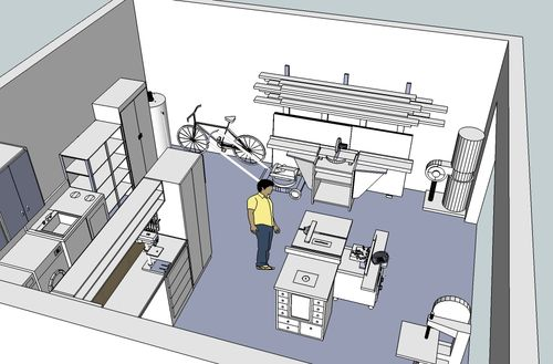 23s Workshop garage design Layout and keep the Misses happy