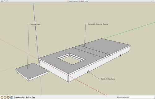 Peachy Workbench 1 Sketchup Of Proposed Bench Top By Chris Creativecarmelina Interior Chair Design Creativecarmelinacom