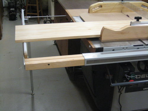table saw fence rail extension 2