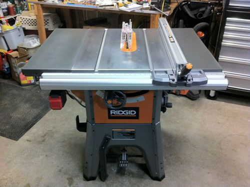 All replies on ridgid r4512 question lumberjocks woodworking here it is with the modified long rails mounted finally got a chance to make a couple cuts last night and i could barely be more impressed greentooth Images