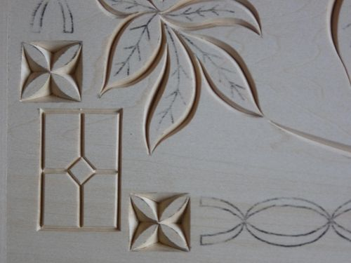 Stationary box chip carving #2: a little more carving done by