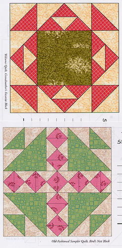 Chip carving class quilt squares lesson pattern