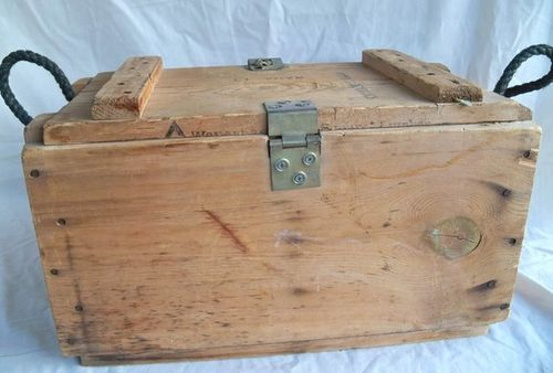 how to make a new ammo box old looking