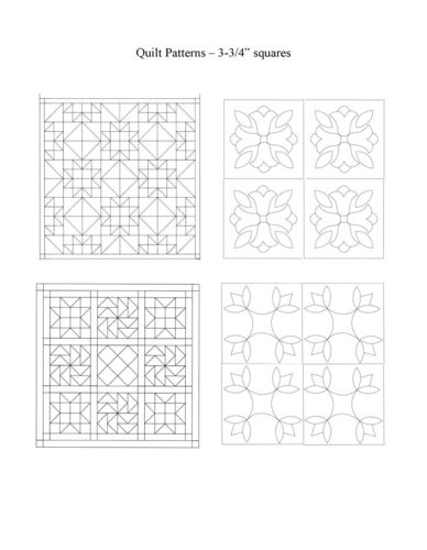 Chip carving class quilt squares pattern downloads