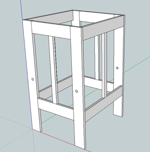 Help with learning tower design by camper lumberjocks for Learning tower woodworking plans