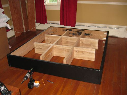 would an 18 pedestal built like this be strong enough for a king size waterbed is it possible to stack 2 smaller pedestals here is what i did over the