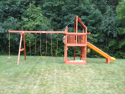 rainbow of for ii size big sale manly set swing pictures installation backyard top wooden residential medium sets prices craigslist rated wood huge