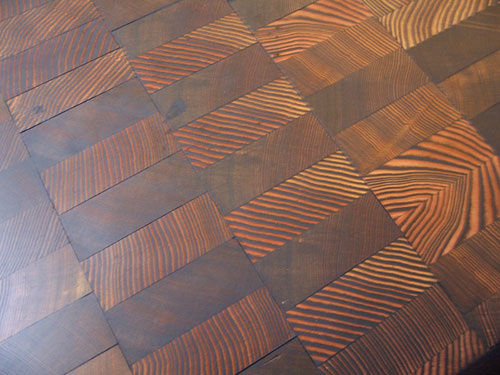 Endgrain Floor Pine Or Hemlock By Jreist Lumberjocks