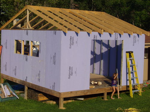 New Workshop Construction 5 Rafters Amp Roof Sheathing