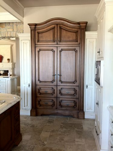 This Armoire Houses Two 27u201d Sub Zero Refrigerators.