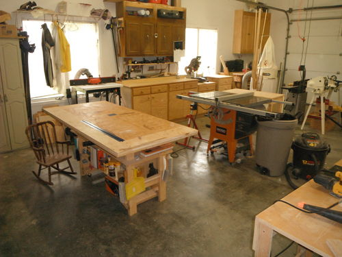 Shopmania 39 s workshop woodworking community for One car garage woodshop