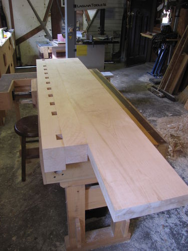 Workbench 5 Holdfast Holes And Spacer Block By Carterswhittling Lumberjocks Com Woodworking Community