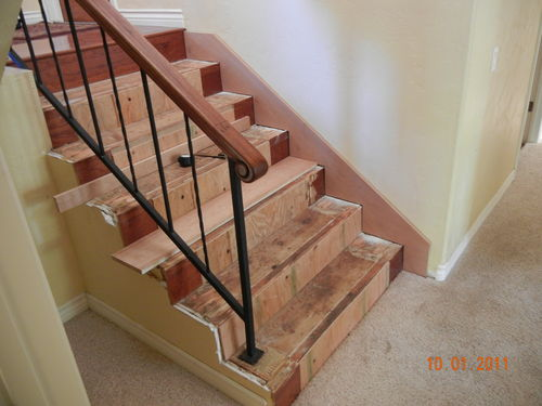 Superb Iu0027m Replacing The Carpet On My Entry Stairs With Solid Cherry Hardwood. The  Stairs (built In 1970) Are Made Out Of 2×6, They Are Glued, Screwed, ...