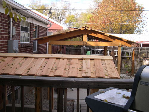My Outdoor Kitchen With A Different Roof Structure By