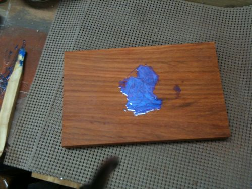 Luxury Filling Gaps In Wood Using Turquoise Inlay With Sand And