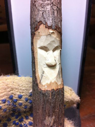 Quot carving a tree spirit face and nose by mpounders