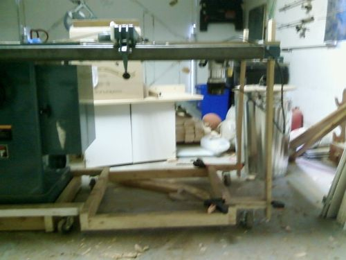 Home made Mobile base #1: Mobile base for Jet cabinet saw ...