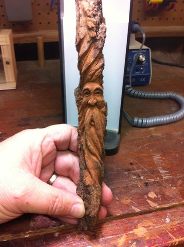 Quot Carving A Tree Spirit Quot 3 Cottonwood Bark By Mpounders