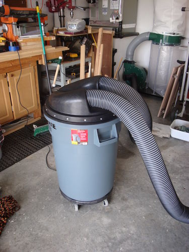Dust collector vs shop vac by brandonr lumberjocks think it was real close to the price of the shop vace hf dust collector is more powerful and you can grow it into a hard duct system down the road keyboard keysfo Images