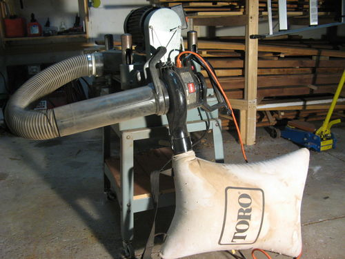 Dust Collector Blower : Dust collector i use my leaf vac instead by adam d