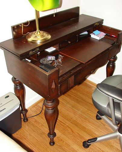 ... a small table where the top folds up to reveal a small desk inside. I  would make square tapered legs. My house is not very big and this could be  useful… - Antique Desk - By SuburbanDon @ LumberJocks.com ~ Woodworking Community