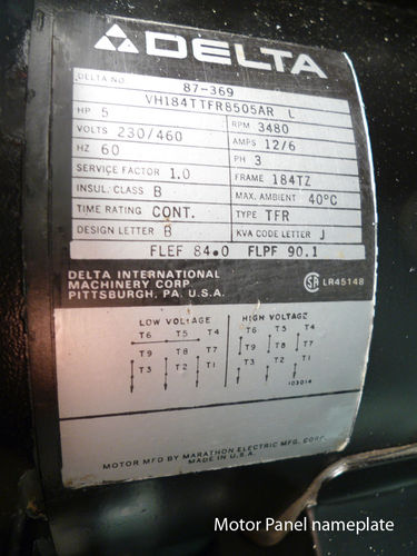 m17cmj4 unisaw restoration 3ph motor not running correctly what could  at nearapp.co