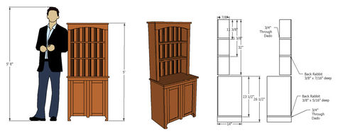 Woodworking Plans 1 Buffet And Hutch By Michaelagate