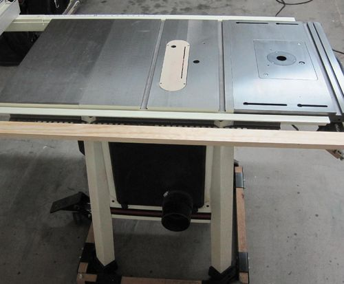 Extension Table For Jet Pro Shop Jps 10 Table Saw By