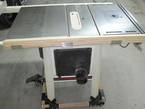 Extension table for jet pro shop jps 10 table saw by kenbry now i took out my kreg jig and built side rails on the table top zip zip side rails on i needed side rails to support my folding leg hardware keyboard keysfo Choice Image