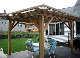 pergola plus for my charcoal grill by fjpetruso woodworking community. Black Bedroom Furniture Sets. Home Design Ideas