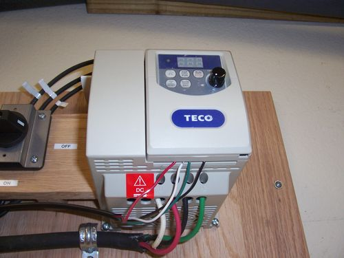Review teco variable frequency drive model jnev 203 h1 by i was able to use the original onoff switch on the saw to control power to the motor as the vfd has low voltage terminals to control it remotely cheapraybanclubmaster Images