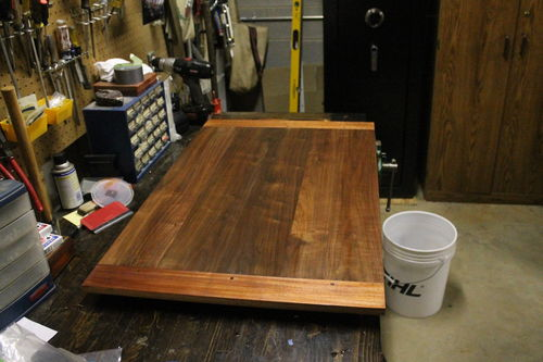 I Have This Coffee Table Top That I Am Going To Brush Or Pad General Finish  Semi Gloss Top Coat, A Water Based Poly.