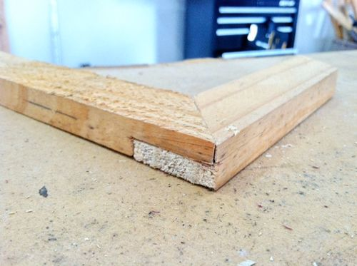 First joint other than butt joint mitered half lap by for 4 8 meter decking boards