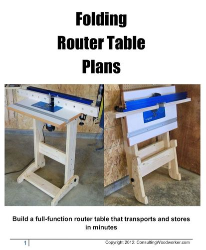 Fs Folding Router Table Plans By Handi Lumberjocks Com