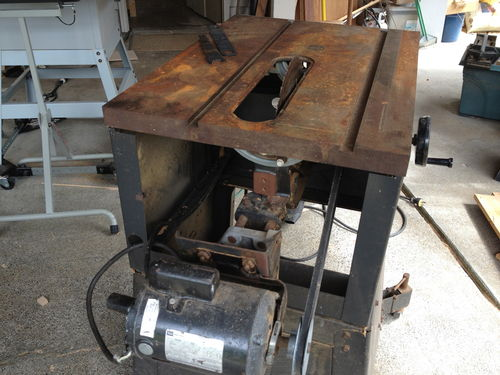 Table Saw Motor Bouncing Power Tools Wood Talk Online