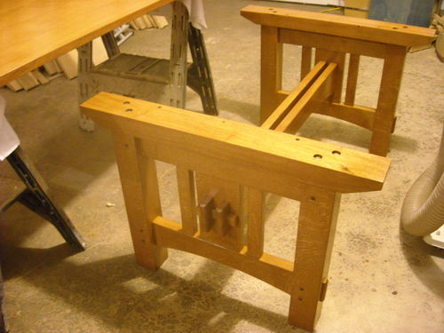 Twin Tenon Arts And Crafts Dining Table #6: Finishing Touches